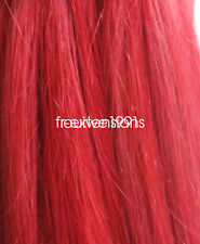 Red human hair extensions ebay 100 strands 16 24 nail u tip 100 human hair extensions pmusecretfo Gallery