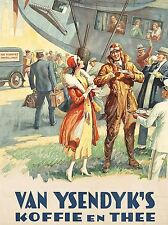 ADVERT VAN YSENDIJKS COFFEE TEA PILOT PEOPLE PLANE NETHERLANDS POSTER LV306