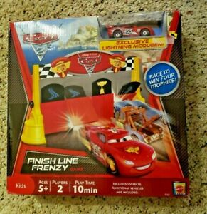Disney Cars 2 Finish Line Frenzy  Exclusive Lightning McQueen, Brand New