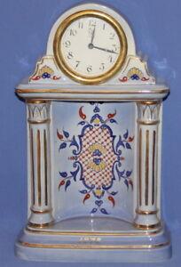 1878 Victorian Porcelain Shelf Mantel Clock Minerva