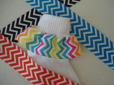 RUFFLE RIBBON SOCKS Chevron Stripe Color Choice Infant Toddler Girls Pageant