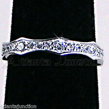 BRILLIANT CLEAR CZ ETERNITY WEDDING BAND OR STACK RING_SZ-7__NF SILVER