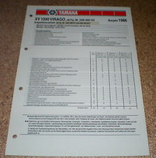 Inspektionsblatt Yamaha VX 1000 Virago Typ 2AE 1986