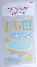 MRS GROSSMANS BUBBLE BATH STICKER SHEET BNIP & NLA