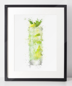 Gin Poster   Room Decor   Wall Art Print   Gift Idea   A4 & A3   High Ball Glass