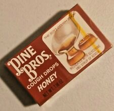 Vintage Pine Bros. Cought Drops Honey Sealed NOS Rare By Beech-Nut  -- 2317