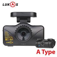 Lukas LK-7950 WD A Type 8GB+8GB Dual FHD 1920x1080 LED Car Dash Camera Blackbox