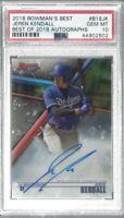 Jeren Kendall 2018 Bowmans Besr On Card Prospect Autograph PSA 10 Dodgers MLB!