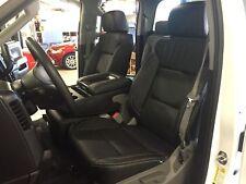 2014 2018 Gmc Sierra Double Cab Katzkin Black Leather Seat Covers Kit Wt Bench