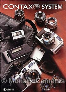 Contax G1 G2 Camera & Lens System Brochure, inc 21mm. Other Catalogues Listed