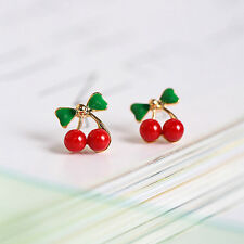 Boucles d'oreilles cerises fruits mignon branché mode chic parfait cadeaux sexy
