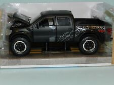 Jada 1/24 Big Time Kustoms 2011 Ford F-150 SVT Raptor Black  MiB