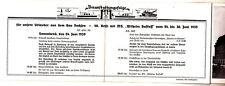 Reise Heft Hamburg Veranstalungsfolge Schiff Wilhelm Gustloff 1939 (D