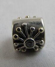 Genuine Pandora 14t Gold & Silver Starburst Desert Star 790188CZ Charm 925 ALE