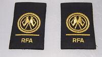 GENUINE NEW ROYAL NAVY RFA RANK SLIDES BADGE Royal Fleet Auxiliary Epaulettes