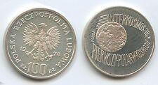 GS287 Poland 100 Zlotych Proba 1978 KM#Pr.337 Interkosmos 78 Silver Trial Strike