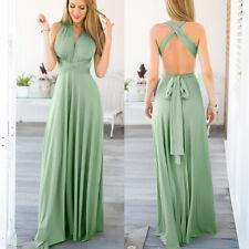 Women Convertible Multi Way Wrap Evening Dress  Bridesmaid Formal Long Dresses