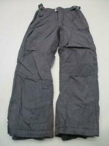 Columbia Size L Youth Black Waterproof Breathable Insulated Snow Pants T482
