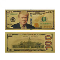 10 X President Donald Trump Colorized $100 Dollar Bill Gold Foil Banknote US EN