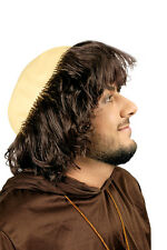Tonsure de moine châtain foncé crâne de moine ou frère perruque 20549503 costume