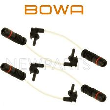 2 Front & 2 Rear Disc Brake Pad Wear Sensors Bowa Kit for MB R107 W123 W124 W126