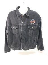 Titan Motorcycle Embroidered Black Denim Jacket Size 2XLarge