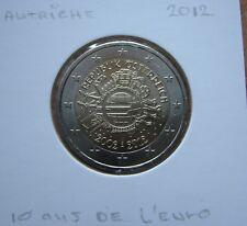 2 EURO commémorative AUTRICHE 2012-PIECE SUPERBE- 10 ans de L'Euro. Autriche