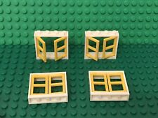 Lego 4 White Window Frame 1x4x3 With 1x2x3 Pane / City / Friends Home Building