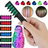 6pcs/Set Temporary Hair Chalk Hair Color Comb Dye Salon Party Fans Cosplay J3V2