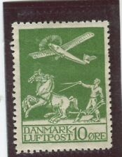 Denmark Stamps Scott #C1 MINT,H,F-VF, light gum bend at top (X2644N)