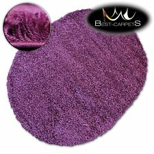 VERY SOFT OVAL SHAGGY RUGS GALAXY PURPLE GOOD QUALITY FLUFFY CHEAP CARPETS