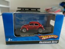 Hot Wheels V W Beetle RED HO Scale 2007  Diecast 1:87  Car W/ Acrylic case