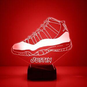 Sneakerhead Night Light, Personalized FREE, LED Desk Lamp, Engraved Gift