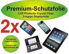 2x Premium-Schutzfolie 3-lagig Huawei Ascend G700 kristallklar blasenfrei