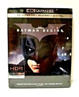 BATMAN BEGINS (4K ULTRA HD + Bluray + Digital) with Slipcover Brand New