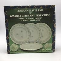 Forever Spring by Johann Haviland Bavaria Germany Fine China -4 Salad Plates-NIB