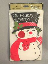 Hallmark Holiday Christmas Party Invitations Snowman 8 Count Sealed Package
