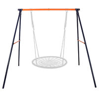 Outdoor Garden Kids Children Swing Stand A-Frame Yard Lawn Playground Toys Gift