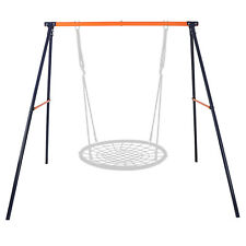 Metal A-Frame Swing Set Frame Stand Fun Play Chair Kids Children Backyard Home