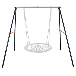 Metal A-Frame Swing Set Frame Stand Fun Play Chair Kids Children Backyard Home