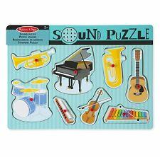 Melissa & Doug Musical Instruments Sound Puzzle 8 pcs