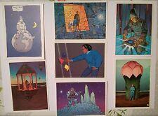 Jean Giraud Gir Moebius  Serie de 7 carte postale 1985 AEDENA