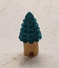 New listing Resin Fairy Garden Miniature Teeny Tiny Tree Trunk House Evergreen 2.5cm Tall