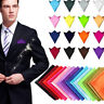 29Color Men Satin Silk Pocket Square Hankie Hankerchief For Wedding Party Formal