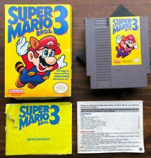 Super Mario Bros. 3 III  Nintendo NES with Case, manual, box and cartridge