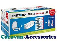Thetford C250 Cassette Toilet Fresh Up Kit Seat/Waste/Holding Tank & Wheels