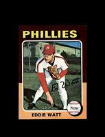 1975 Topps Baseball MINI #375 Eddie Watt (Phillies) NM-MT