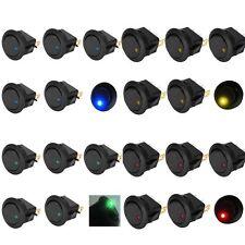 """20pcs  3/4""""(19mm) Hole LED illuminated Rocke Round Toggle On Off Switch for Car"""