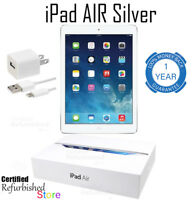 Apple iPad Air 1 | 32GB, Wi-Fi Only Tablet, 9.7 Inches | Silver | Plus Warranty