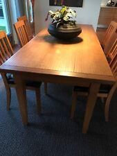 Scholtissek Esstisch Eiche + 6 Stühle mit schwarzem Lederüberzug